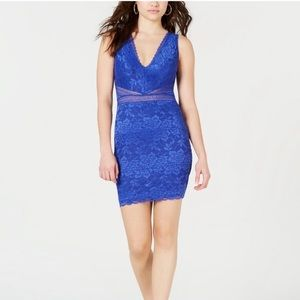 Guess blue lace dress